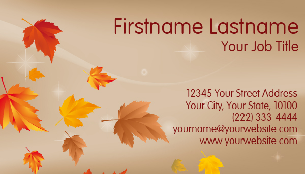 Autumn Business Card