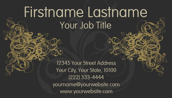 Black Golden Business Card