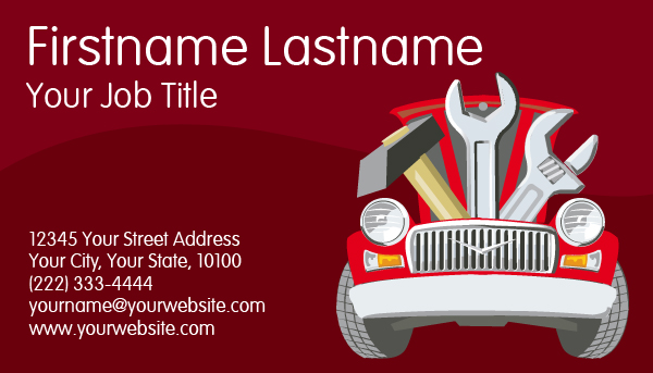 Car Repair Business Card