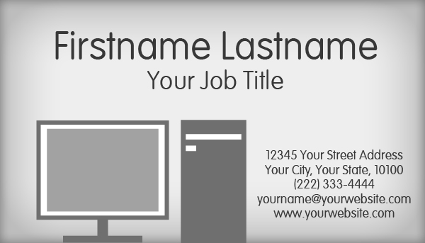 Computer Working Business Card