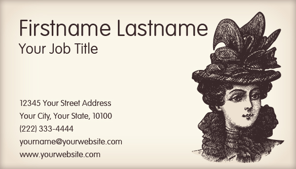 Fashion Vintage Business Card