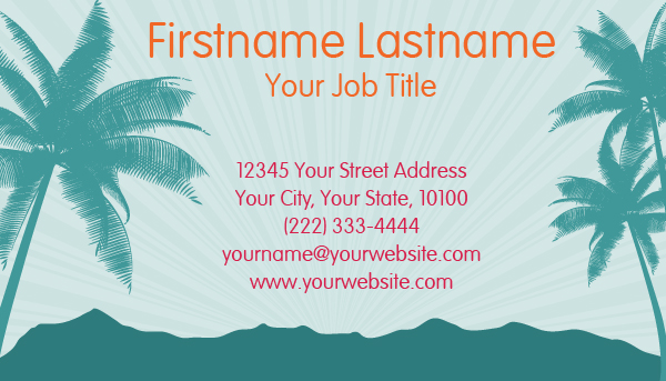Hawaiian Business Card