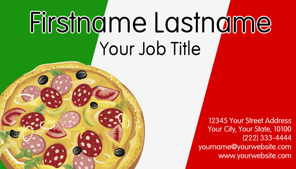 Italian Pizza Business Card