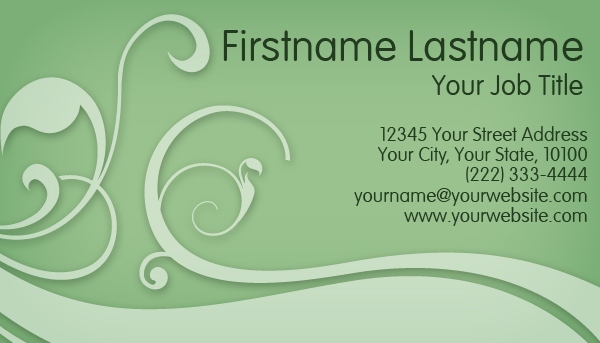 Light Green Business Card