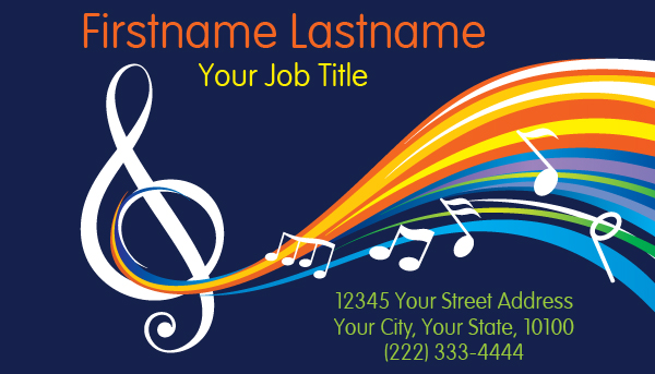 Music speaker Business Card