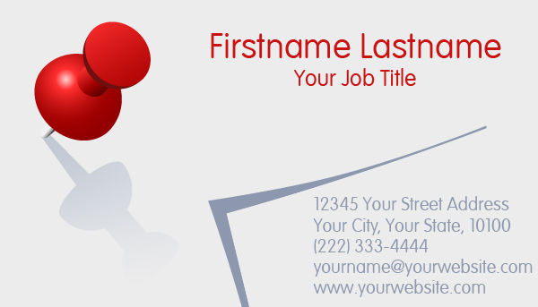Red Pin Business Card