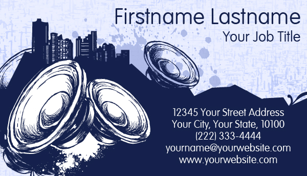 Urban speaker Business Card